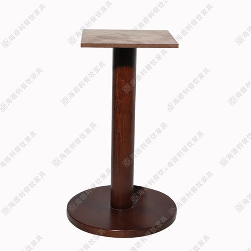 实木火锅桌桌脚架 实木圆盘底座桌脚 火锅桌时尚木质餐桌脚