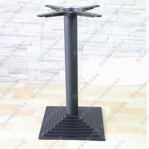 火锅桌底盘铁架 餐桌支架 铸铁圆盘 磨砂咖啡桌支架 快餐桌椅桌腿吧桌脚