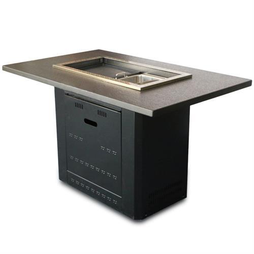 火锅店下沉式电磁炉无烟净化火锅烧烤桌