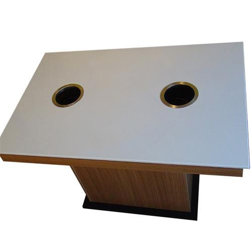 一人一锅餐厅二人/四人/六人大理石自助电磁炉火锅桌
