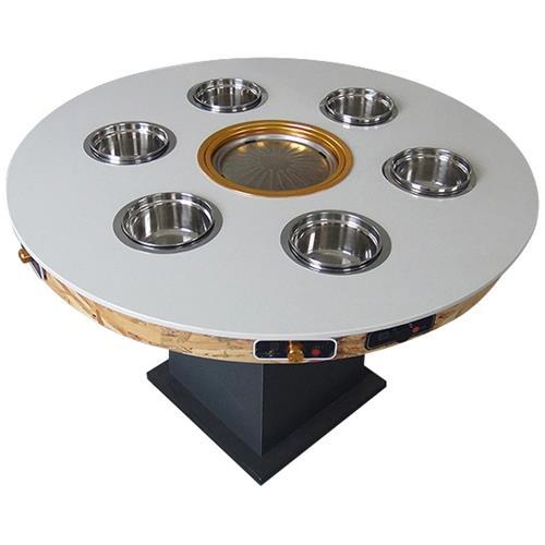 大理石火锅一体桌-1