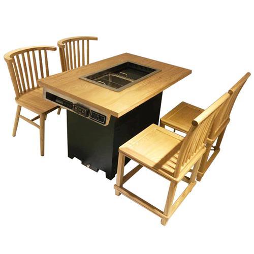 实木火锅一体桌-27