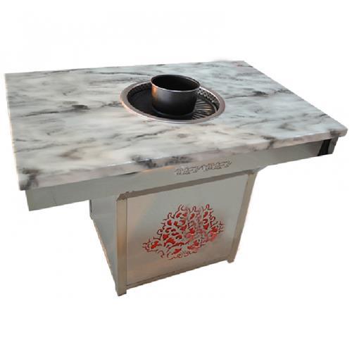 大理石自助烤肉火锅一体桌-无烟烤肉火锅一体锅桌子