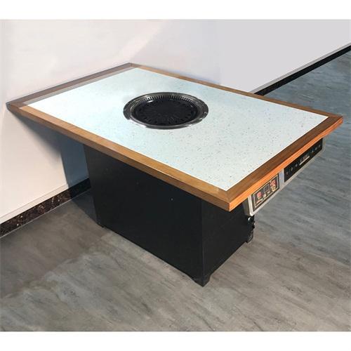 日式下排烟净化器烧烤桌_下排烟的烤肉桌子