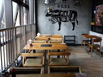 实木火锅桌 实木火锅主题餐厅桌椅 厂家定做