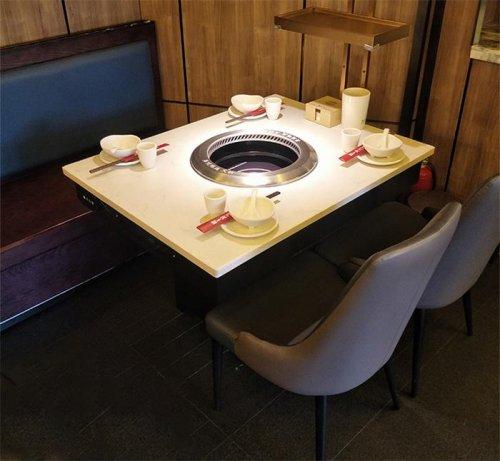 自带无烟净化器大理石无烟火锅桌